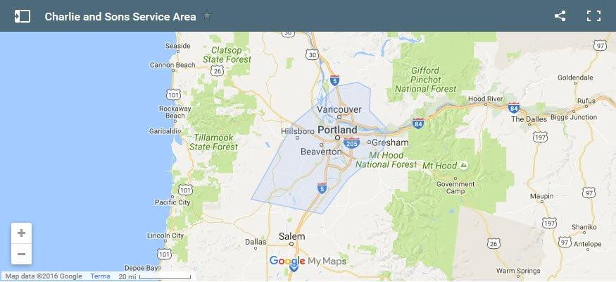 Junk Hauling Portland Map